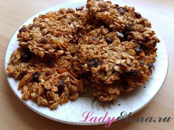 Печенье из овсянки на сковороде фото-рецепт