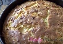Заливной пирог с сырой капустой фото рецепт