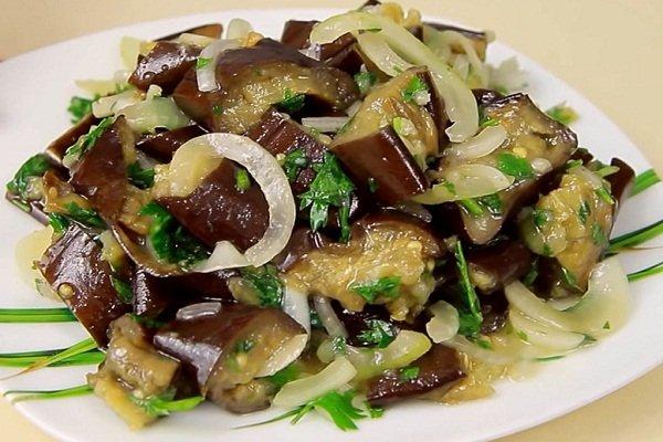 Баклажаны с чесноком по вкусу как грибы