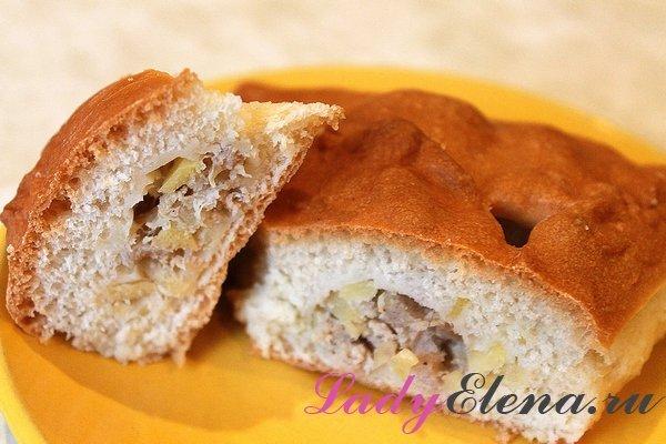 Пирог с мясом и картошкой фото-рецепт
