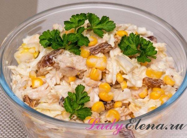Салат из пекинской капусты и курицы фото-рецепт