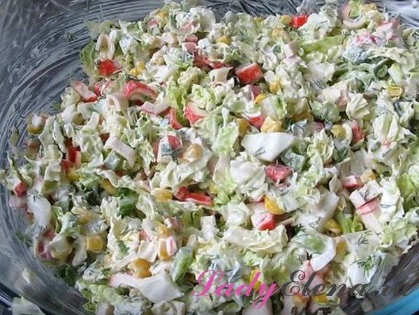 Салат из пекинской капусты фото-рецепт
