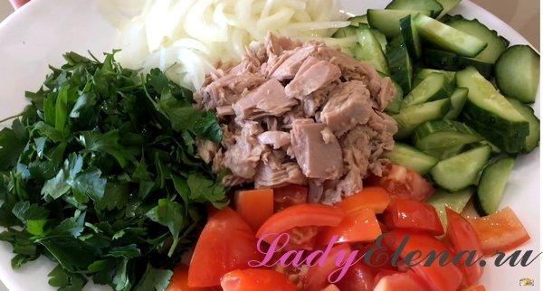 Салат с тунцом рецепт с фото
