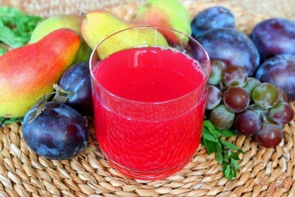 Виноградный компот с другими фруктами