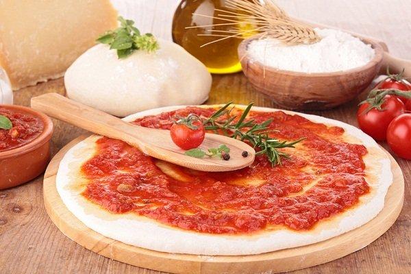 Быстрое дрожжеове тесто для пиццы