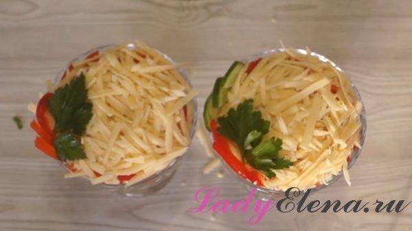 Салат с ветчиной и сыром фото-рецепт