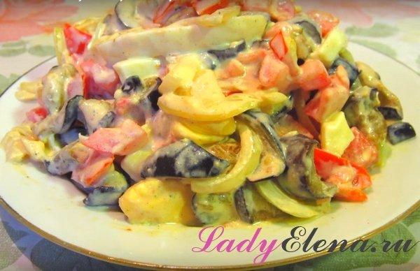 Салат из баклажанов и яиц