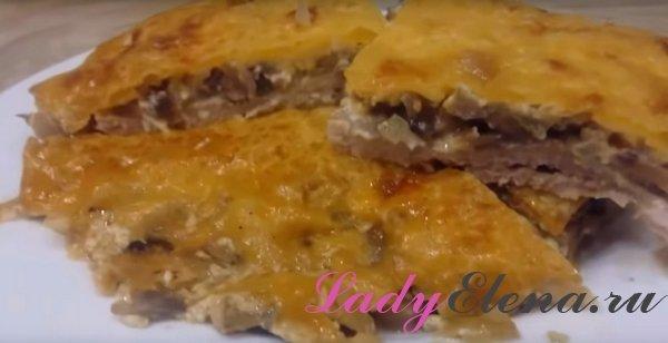 Мясо с грибами и сыром - фото-рецепт