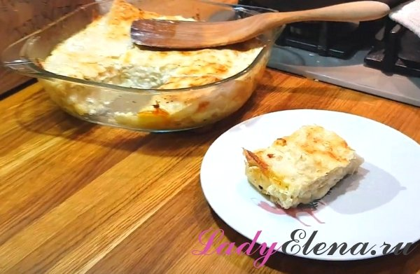 Ачма с сыром из лаваша