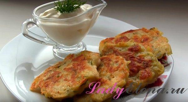 Картофельные драники с куриной грудкой