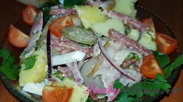 Картофельный салат фото-рецепт