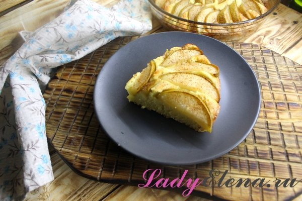 Грушевый пирог фото-рецепт