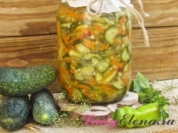 Огуречный салат с овощами на зиму