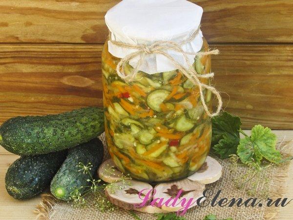 Салат из огурцов на зиму фото-рецепт