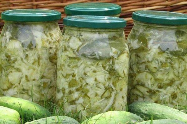 Салат из капусты и огурцов на зиму