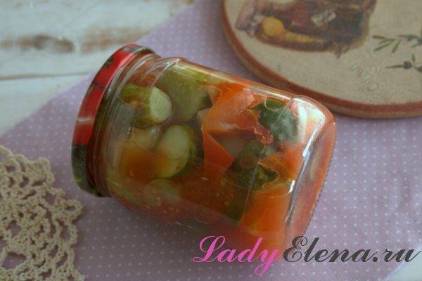 Салат из летних овощей в банке фото рецепт