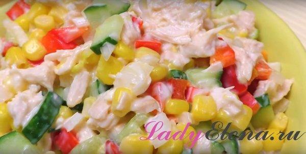 Салат из курицы с овощами фото-рецепт