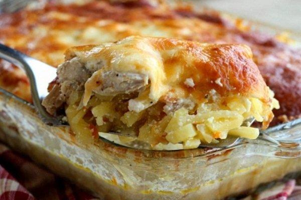 """Картошка с курицей и сыром """"по-французски"""""""