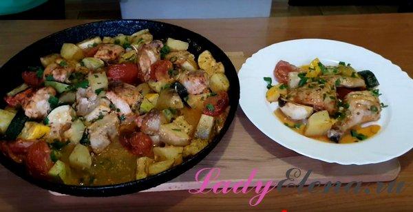 картошка с курицей в духовке фото рецепт