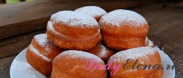 Пончики с повидлом фото рецепт