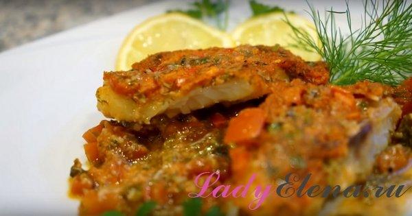 Рыба по-итальянски запеченная в духовке с помидорами