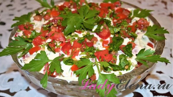 Салат из кабачков и помидоров фото рецепт