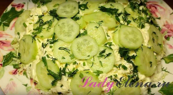 Салат из творога с огурцами фото рецепт