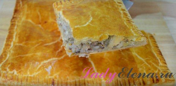 Пирог с консервой фото-рецепт