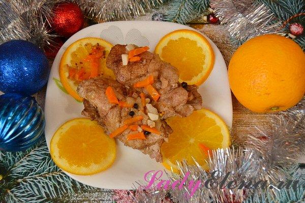 Утиная грудка с апельсинами фото-рецепт