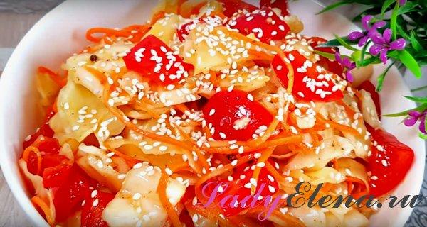 Капуста с морковкой по-корейски фото рецепт