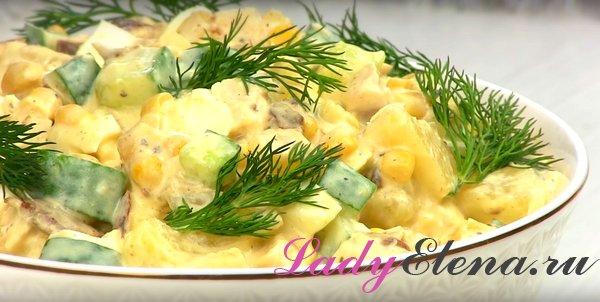 Салат с курицей и ананасами фото-рецепт