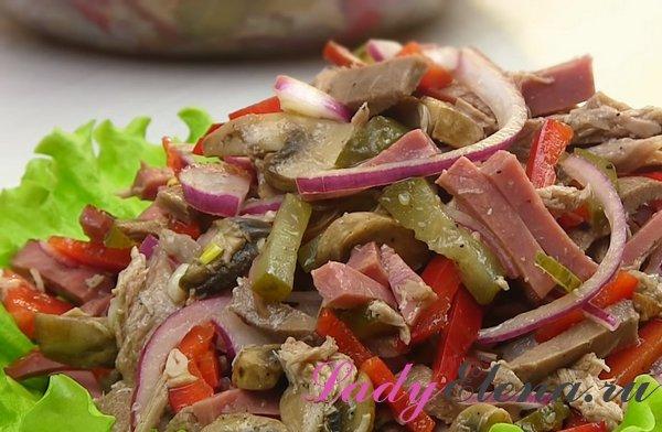 Салат из языка фото-рецепт