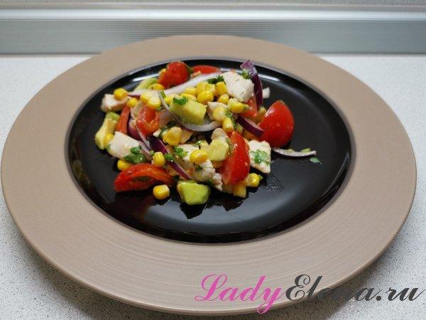 Салат из авокадо фото-рецепт