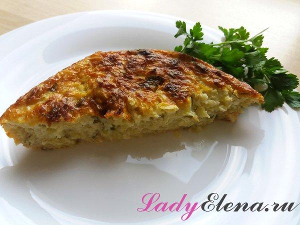 Запеканка из кабачков с творогом и сыром
