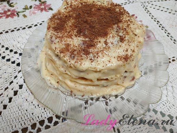 Торт на сковороде фото-рецепт