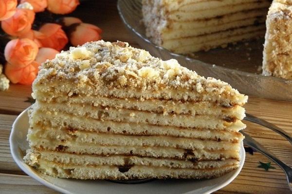 Торт на кефире испеченный на сковороде