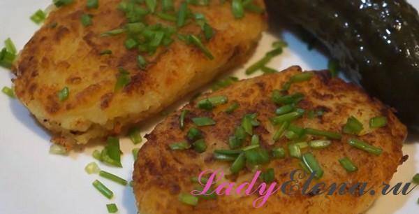 Картофельные котлеты фото-рецепт