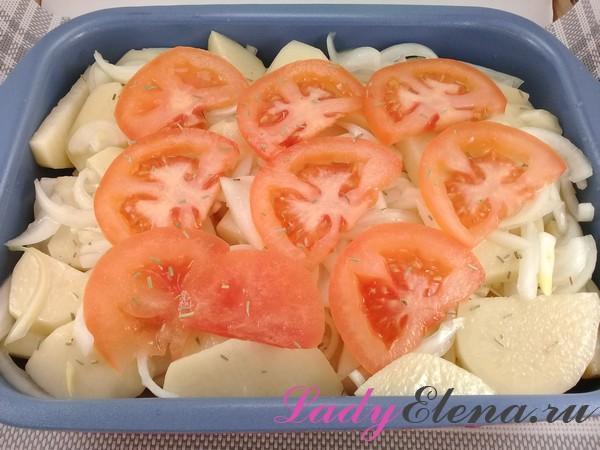 Картошка с помидорами в духовке – 3 рецепта с сыром и мясом