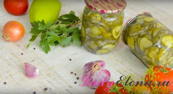 Огурцы с луком на зиму фото-рецепт