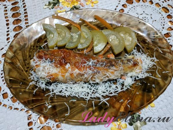 Хек с сыром и овощами фото-рецепт