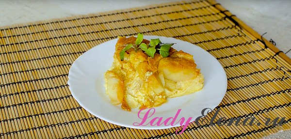 Пирог с творогом и яблоками фото-рецепт