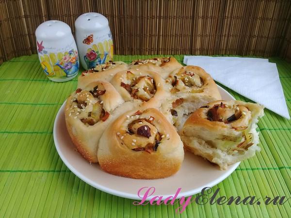 Пирог с луком фото-рецепт