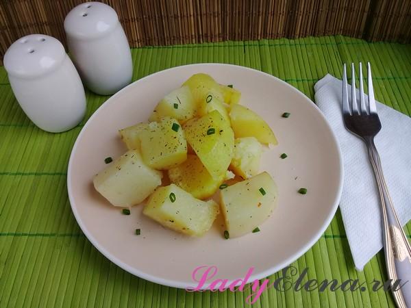 Картошка в рукаве фото-рецепт