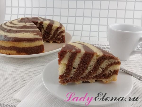 Манный пирог Зебра