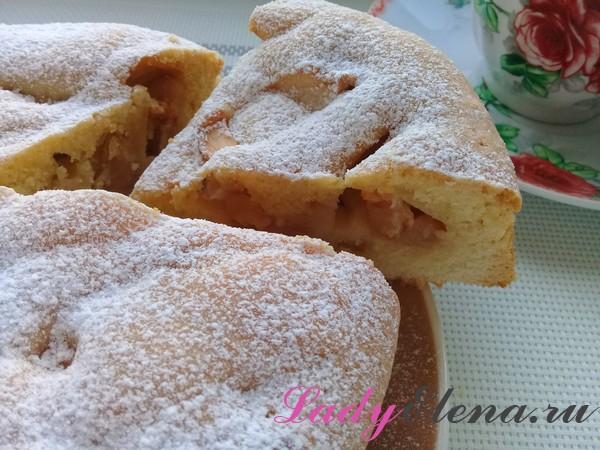 Песочный пирог с яблочной начинкой