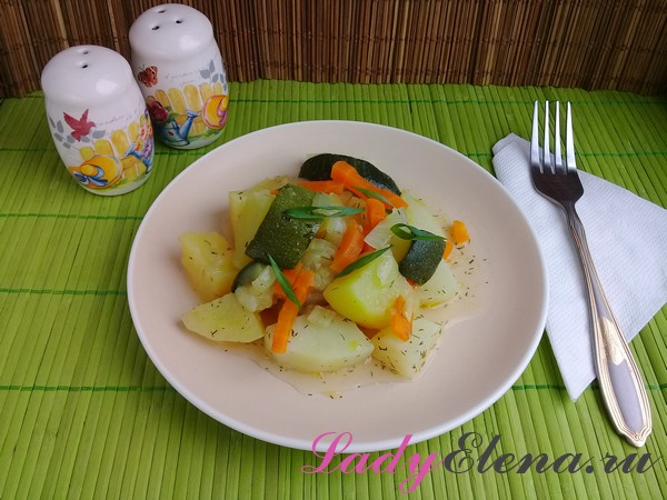 Рагу с картошкой фото-рецепт