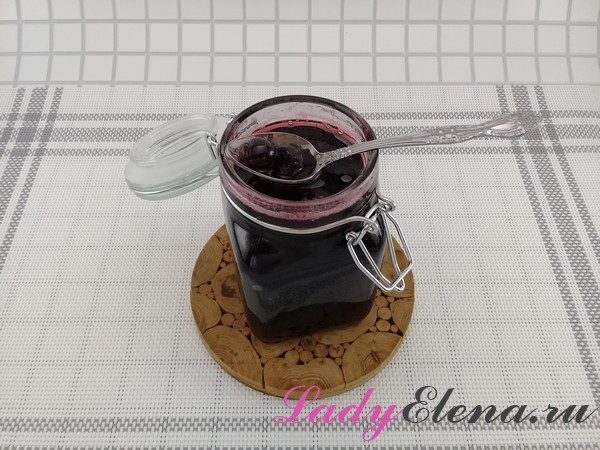 Варенье из замороженной вишни фото-рецепт