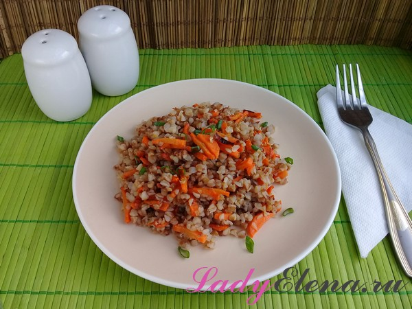 Гречневая каша с морковью
