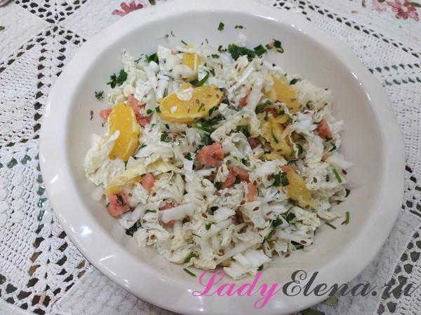Салат из капусты с апельсином фото-рецепт