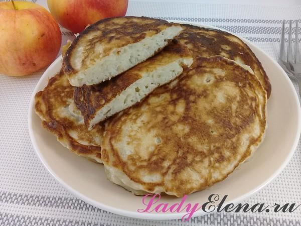Яблочные оладьи фото-рецепт